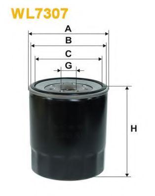 Фильтр масляный WL7307/OP636/1 (пр-во WIX-Filtron)                                                    арт. WL7307