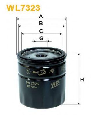 Фильтр масляный (OP 532/2)  арт. WL7323