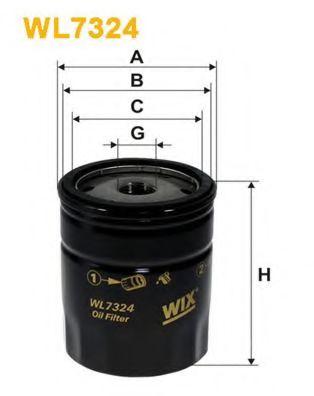 Фильтр масляный (OP 537)  арт. WL7324