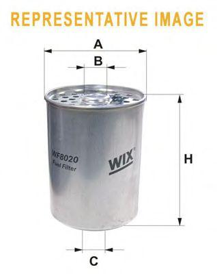 Фильтр топливный (PM 844)  арт. WF8020