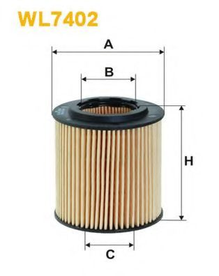 Фильтр масляный WL7402/OE648/5 (пр-во WIX-Filtron)                                                    арт. WL7402