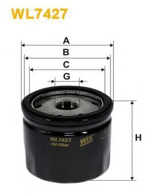 Фильтр масляный (OP 643/4)  арт. WL7427