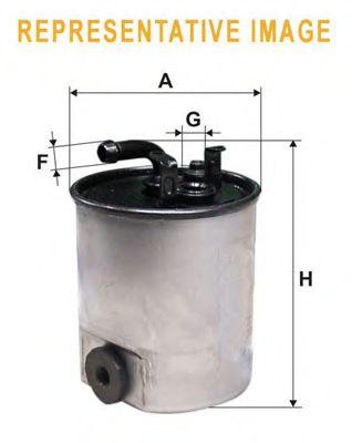 Фильтр топлива MERCEDES A (W169), B (W245), C (W204), CLS (C218), E (W212, C207) /H=138mm/ WIXFILTERS WF8467