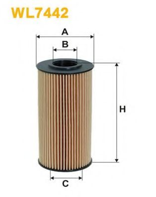 Фильтр масляный  (OE 674/2)  арт. WL7442