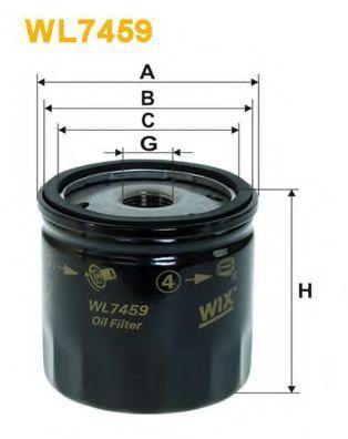 Фильтр масляный (OP 629/1)  арт. WL7459