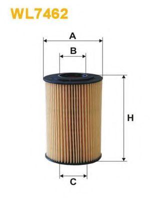 Фильтр масляный (OE 674/4)  арт. WL7462