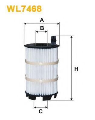 Фильтр маслянный AUDI; VW (пр-во Wix-Filtron)                                                        WIXFILTERS арт. WL7468