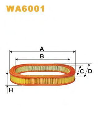 Фильтр воздушный (AE 208)  арт. WA6001