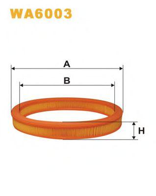 Фильтр воздушный (AE 250)  арт. WA6003