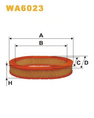 Фільтр повітря  арт. WA6023