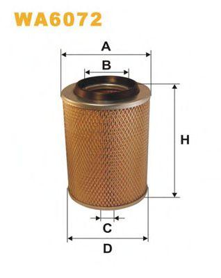 Фильтр воздушный MB 100 WA6072/AM407/1 (пр-во WIX-Filtron)                                            арт. WA6072