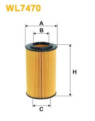 Фильтр масляный MB Sprinter/Vito CDI, OM611/612/646  арт. WL7470