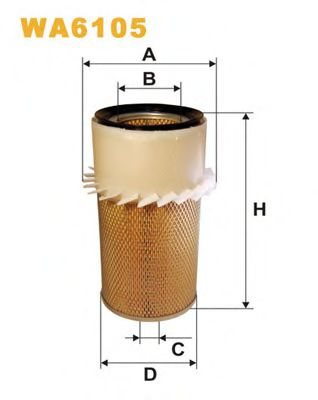 Фильтр воздушный WA6105/430/1 (пр-во WIX-Filtron)                                                    HENGSTFILTER арт. WA6105