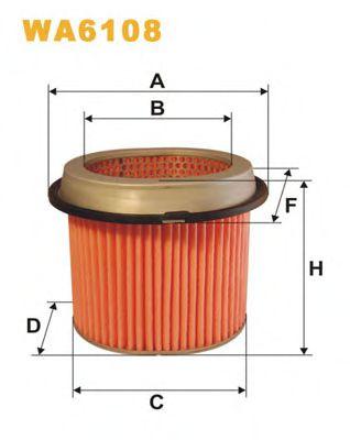Фильтр воздушный (AM 433)  арт. WA6108