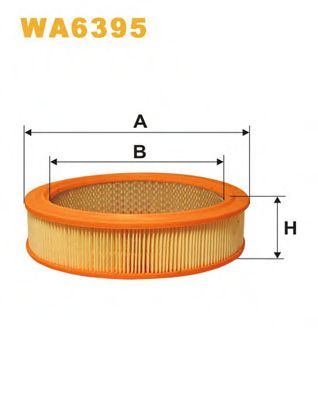Фильтр воздушный ВАЗ 2101-2107, 2108-09 (карбюратор)/AR214 (пр-во WIX-Filtron UA) WIX FILTERS арт. WA6395