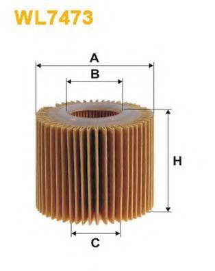 Фильтр масляный (OE 685/3)  арт. WL7473