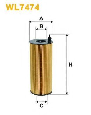 Фильтр маслянный BMW (пр-во Wix-Filtron)                                                              арт. WL7474