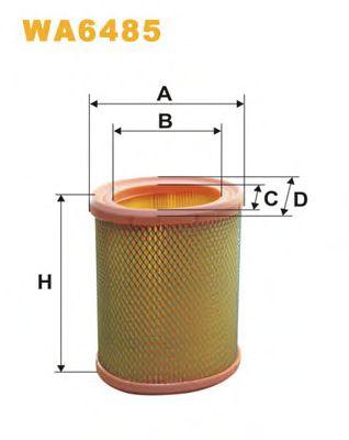 Фильтр воздушный CITROEN, PEUGEOT WA6485/AE311 (пр-во WIX-Filtron)                                    арт. WA6485