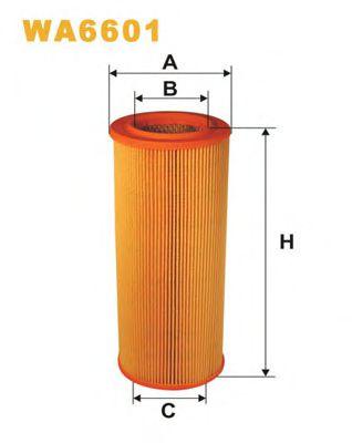 Фильтр воздушный SAAB 9000 AR366/WA6601 (пр-во WIX-Filtron)                                           арт. WA6601