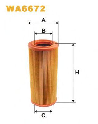 Фильтр воздушный FIAT WA6672/AR234/2 (пр-во WIX-Filtron)                                              арт. WA6672
