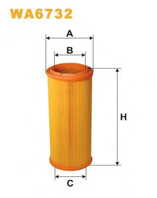 Фильтр воздушный (AR 234/3)  арт. WA6732