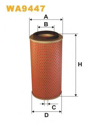 Фильтр воздушный WA9447/AM433/2 (пр-во WIX-Filtron)                                                   арт. WA9447