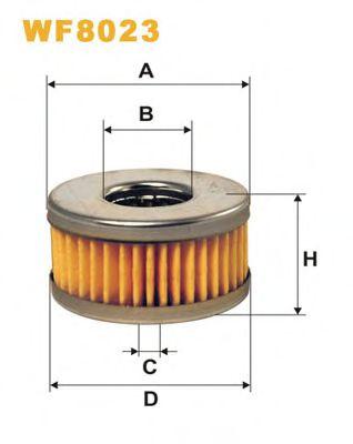Топливный фильтр Фильтрующий элемент топливного фильтра (LPG-LOVATO) WIXFILTERS арт. WF8023