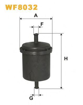 Фильтр топливный (PP 830)  арт. WF8032