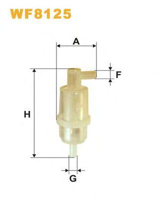 Фильтр топливный (PS 820)  арт. WF8125