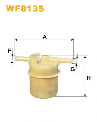 Фильтр топл. WF8135/PS867 (пр-во WIX-Filtron)                                                         арт. WF8135