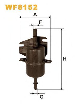 Фільтр палива  арт. WF8152