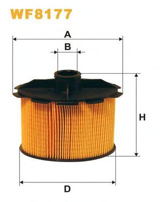 Фильтр топливный (PE 816/2)  арт. WF8177