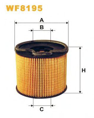 Фильтр топл. CITROEN, PEUGEOT PE816/3/WF8195 (пр-во WIX-Filtron)                                      арт. WF8195
