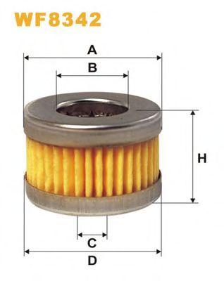 Топливный фильтр Фильтр топливный WIXFILTERS арт. WF8342
