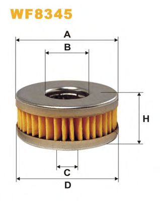 Топливный фильтр Фильтр топливный WIXFILTERS арт. WF8345
