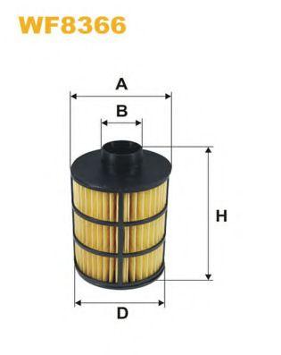 Фильтр топливный (PE 982)  арт. WF8366