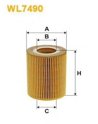 Фильтр масляный  арт. WL7490