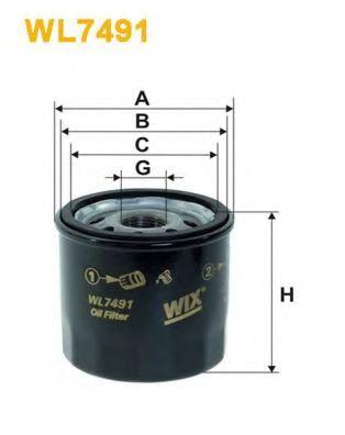 Масляный фильтр Фильтр масляный PARTSMALL арт. WL7491