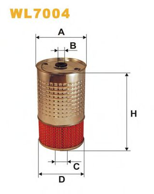Фильтр масляный (OC 602)  арт. WL7004