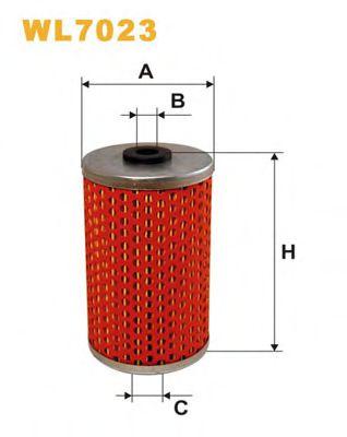 Фильтр масляный двигателя MB WL7023/OM509 (пр-во WIX-Filtron)                                         арт. WL7023