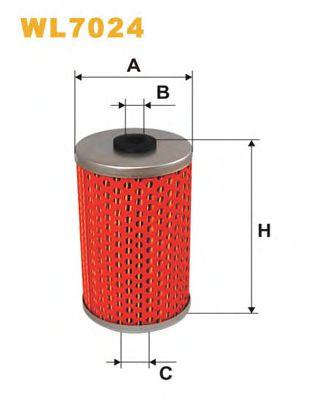 Фильтр масляный двигателя MB W123 WL7024/OM510 (пр-во WIX-Filtron)                                    арт. WL7024