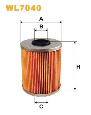 Фильтр масляный (OM 522)  арт. WL7040