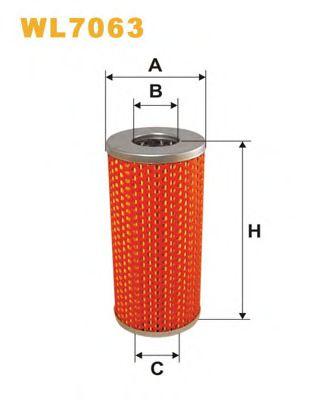 Фильтр масляный (OM 614)  арт. WL7063