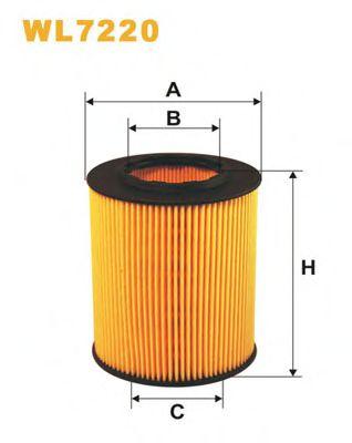 Фильтр масляный (OE 649)  арт. WL7220