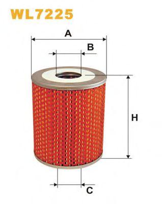 Фильтр масляный CLAAS (TRUCK) WL7225/OM515/1 (пр-во WIX-Filtron)                                      арт. WL7225