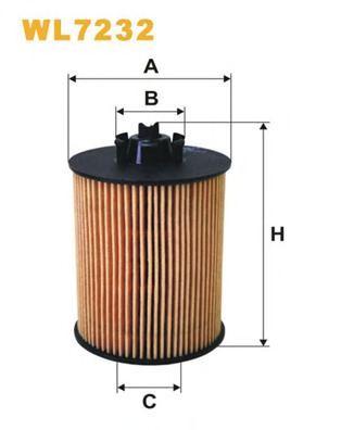 Фільтр масляний WIXFILTERS арт. WL7232