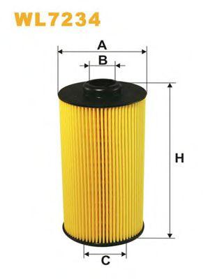 Фильтр масляный (OE 649/3)  арт. WL7234