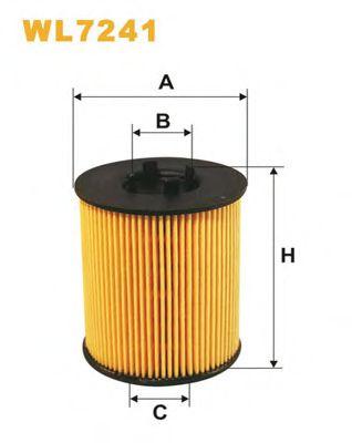 Фильтр масляный OPEL ASTRA WL7241/OE648/2 (пр-во WIX-Filtron)                                        BOSCH арт. WL7241