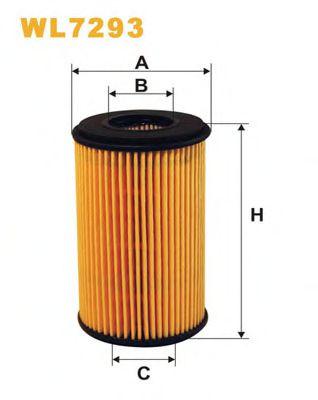Фильтр масляный двигателя RENAULT CLIO II WL7293/OE666 (пр-во WIX-Filtron)                            арт. WL7293