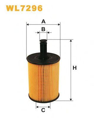 Фильтр масляный FABIA, GOLF WL7296/OE650/1 (пр-во WIX-Filtron)                                       BOSCH арт. WL7296